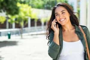 photo of happy latin woman | online depression counseling and anxiety treatment in South Carolina